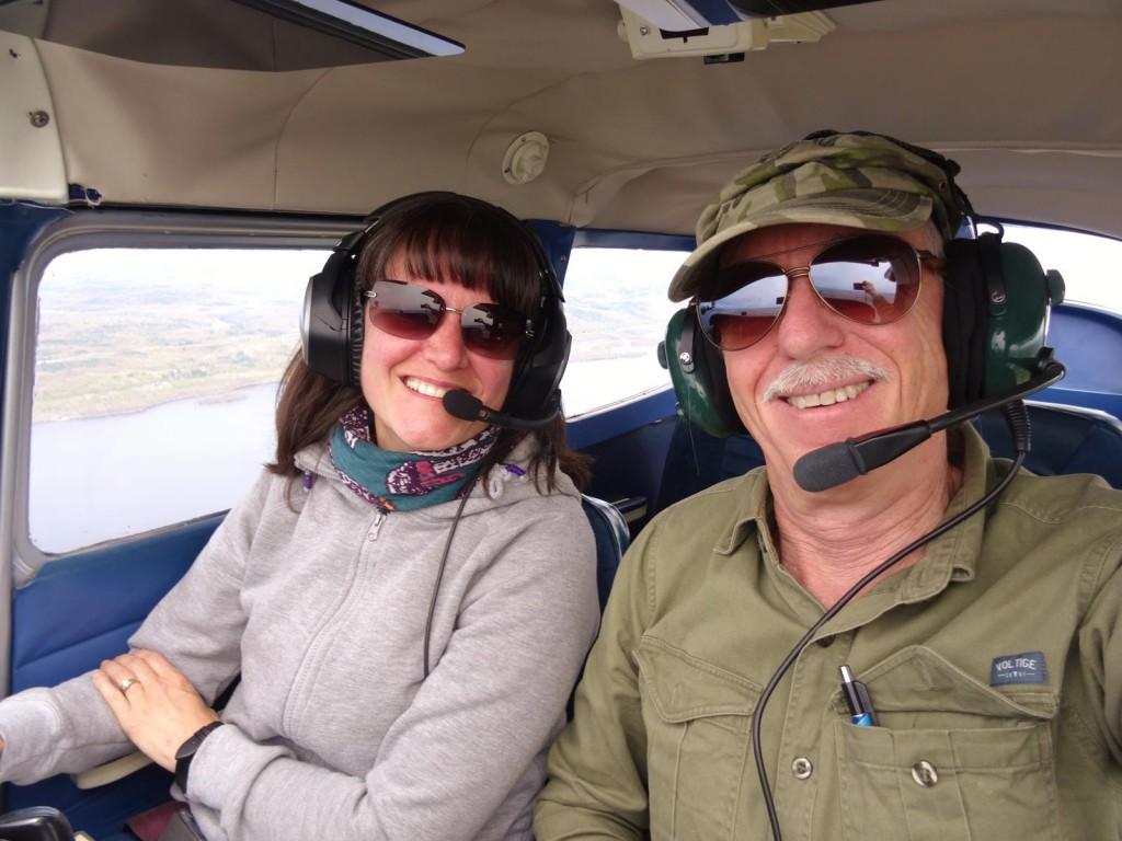 Moi et Patrick pour le vol de retour. Crédit photo: Patrick Vergobbi.